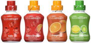 SodaStream 4er Sirup-Packung Cola, Orange, Zitrone-Limette, Cola-Mix (4 x 500ml), Wassersprudler kaufen